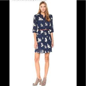 ECI New York,Embroidery Shirt Dress,ivory/navy.NWT